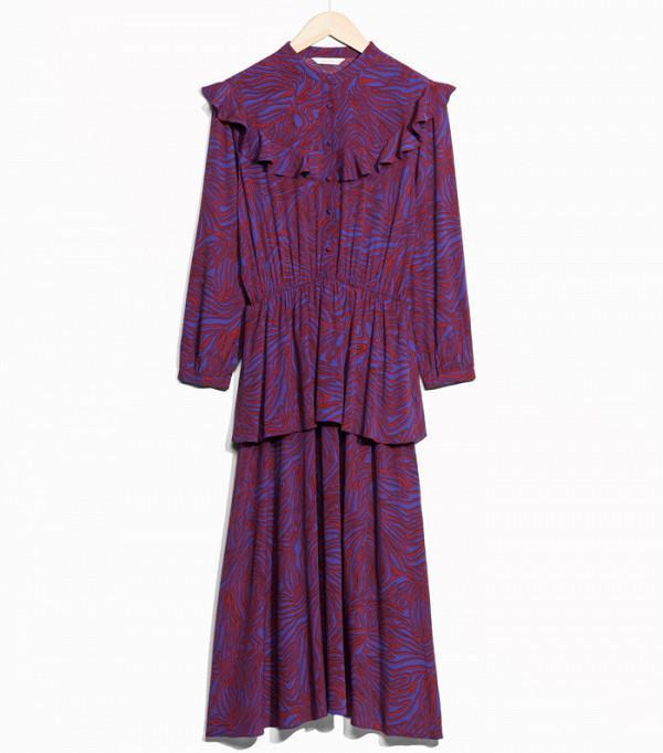 & Other Stories Zebraic Chambermaid Dress
