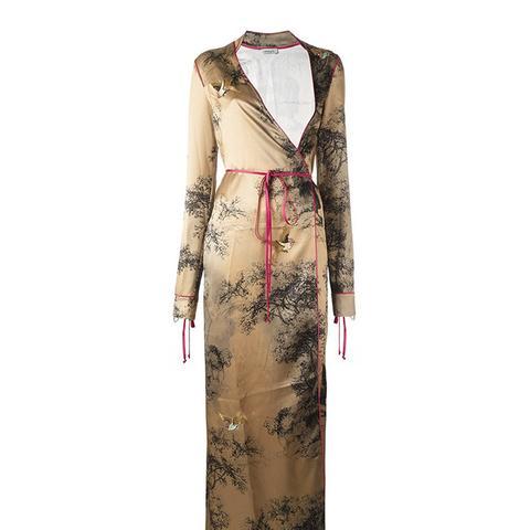 Wallpaper Wrap Dress