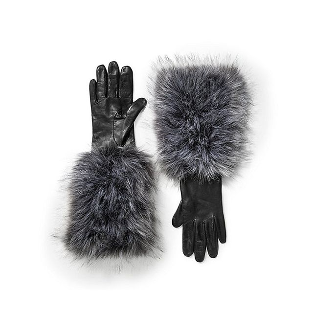 Kate Spade Faux Fox Long Gloves