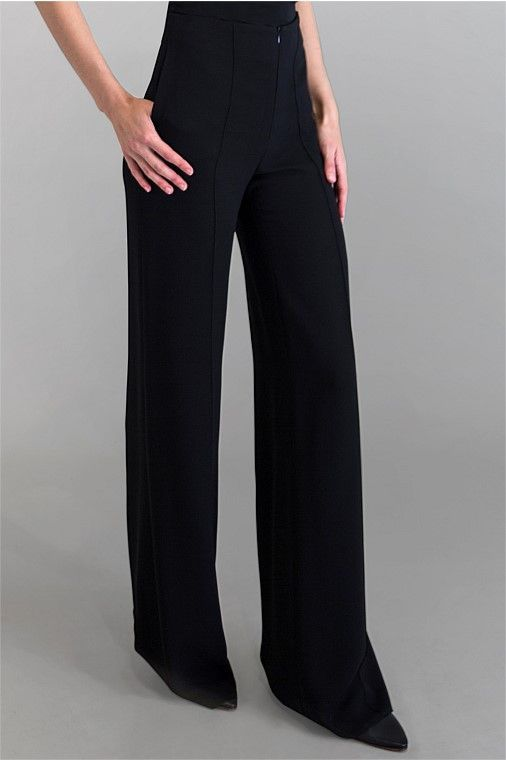 Carla Zampatti Black Crepe Fluid Pants