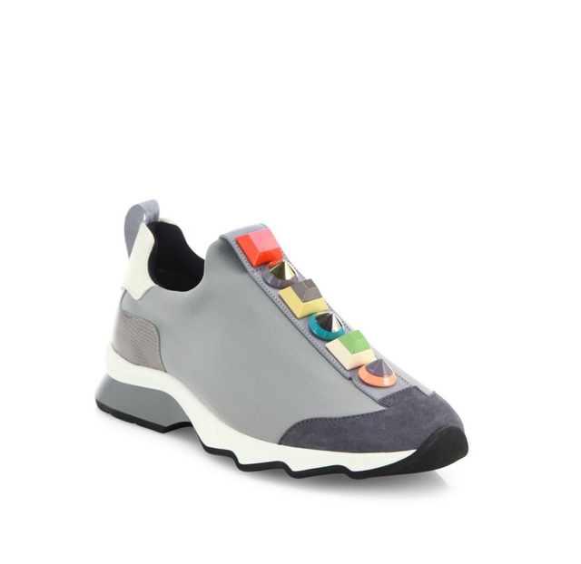 Fendi Rainbow Studded Sneakers