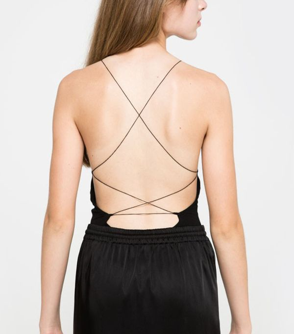 T by Alexander Wang Criss Crossback Bodysuit