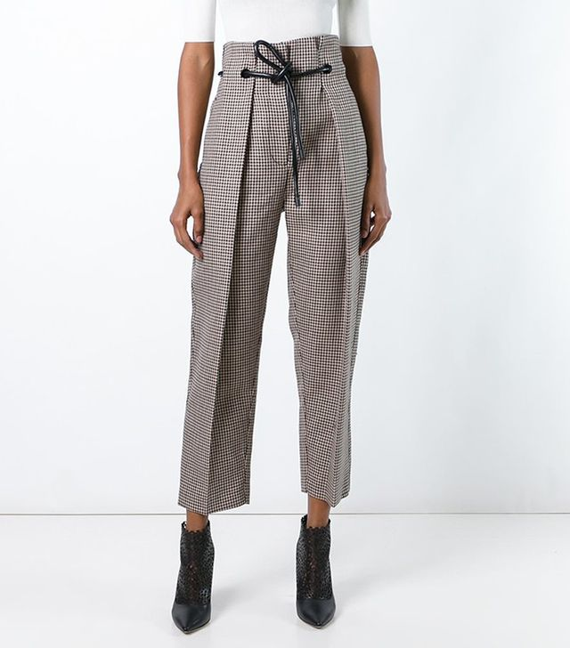 3.1 Phillip Lim Origami Pleat Houndstooth Trousers