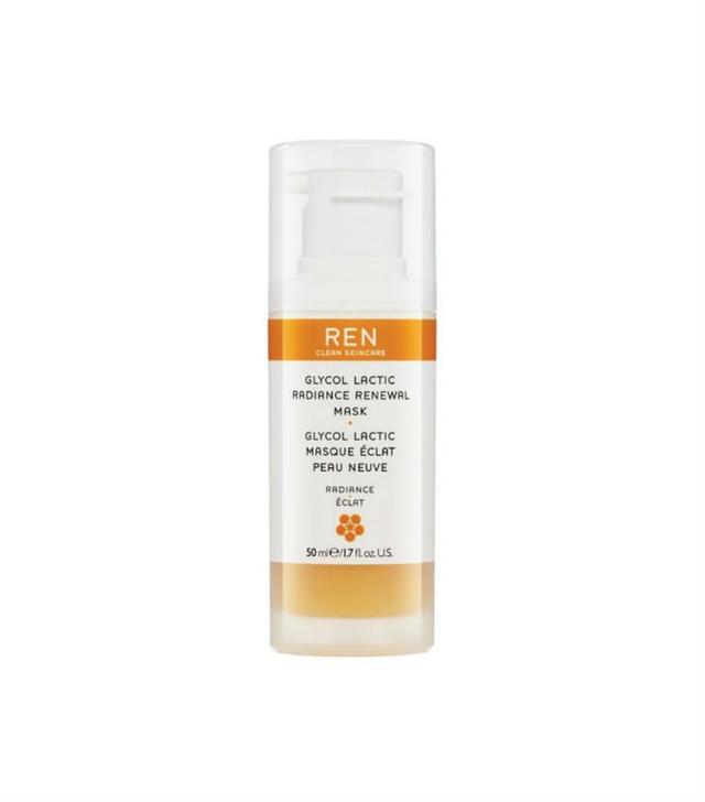 face masks for acne: REN Glycol Lactic Radiance Renewal Mask