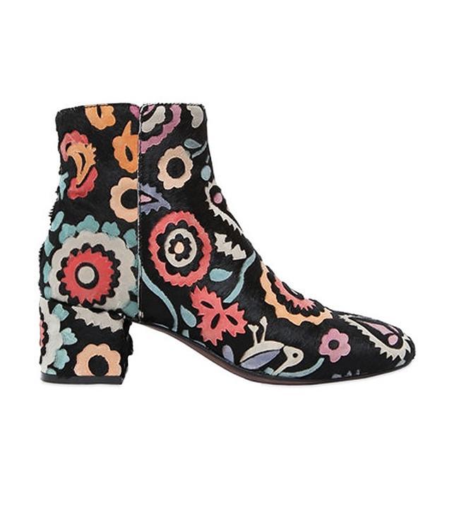 AGL Flower Laser-Cut Ponyskin Boots