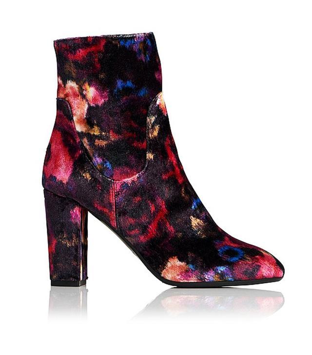 L.K. Bennett Pellino Velvet Floral Ankle Boots