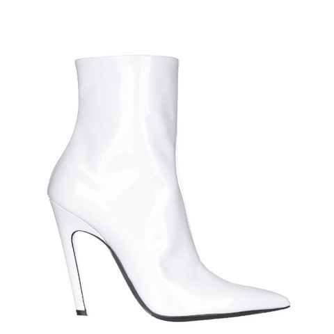 Slant-Heel Patent-Leather Boots