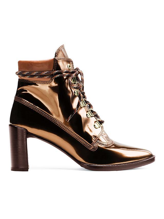 Stuart Weitzman x Gigi Hadid Gigi Boot in Copper