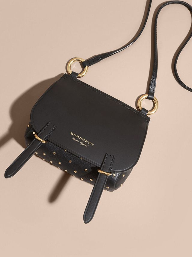 Burberry Baby Bridle Bag in Riveted Leather