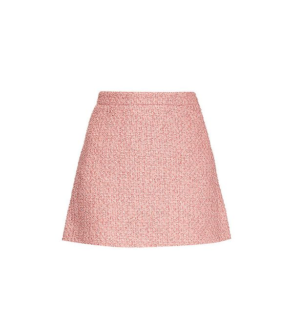 Gucci Tweed A-Line Mini Skirt