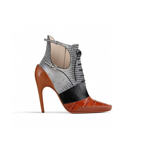 Dior Cognac Calfskin Ankle Boot