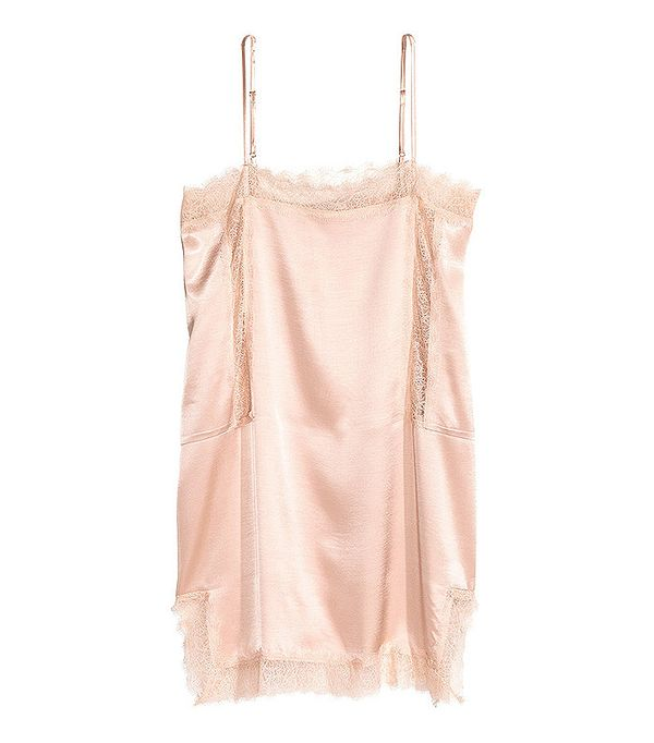 H&M Long Satin Camisole Top