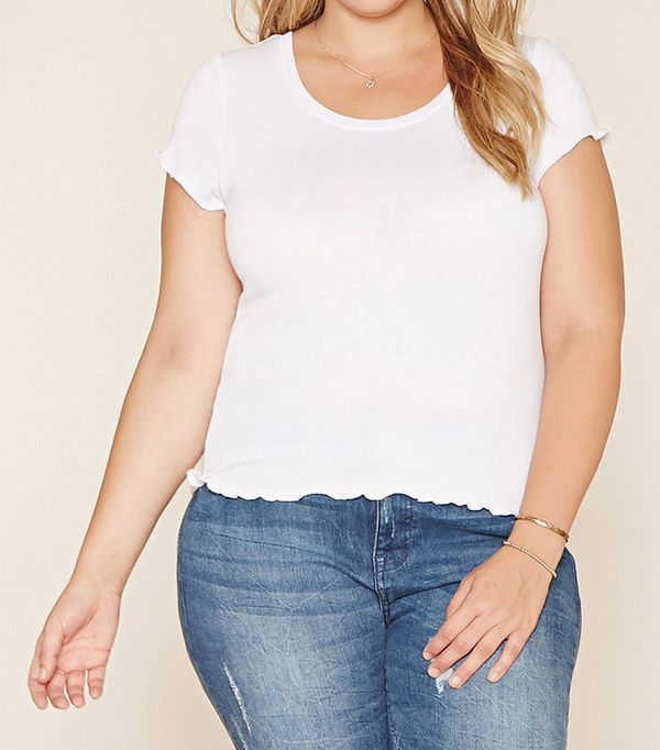Forever 21 Plus Size Ruffle Tee