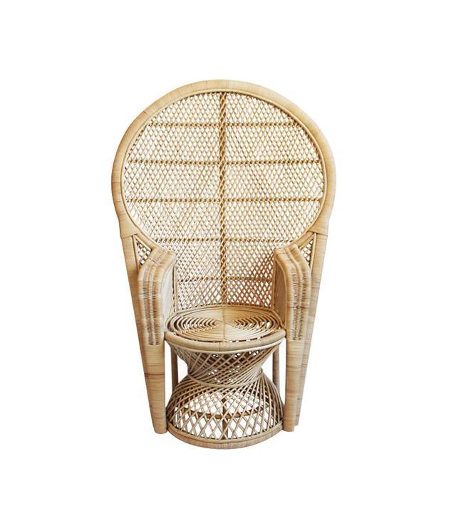 Chairish Perindo Natural Peacock Chair