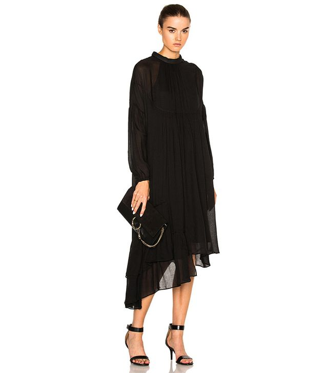 Tibi Asymmetric Ruffle Dress
