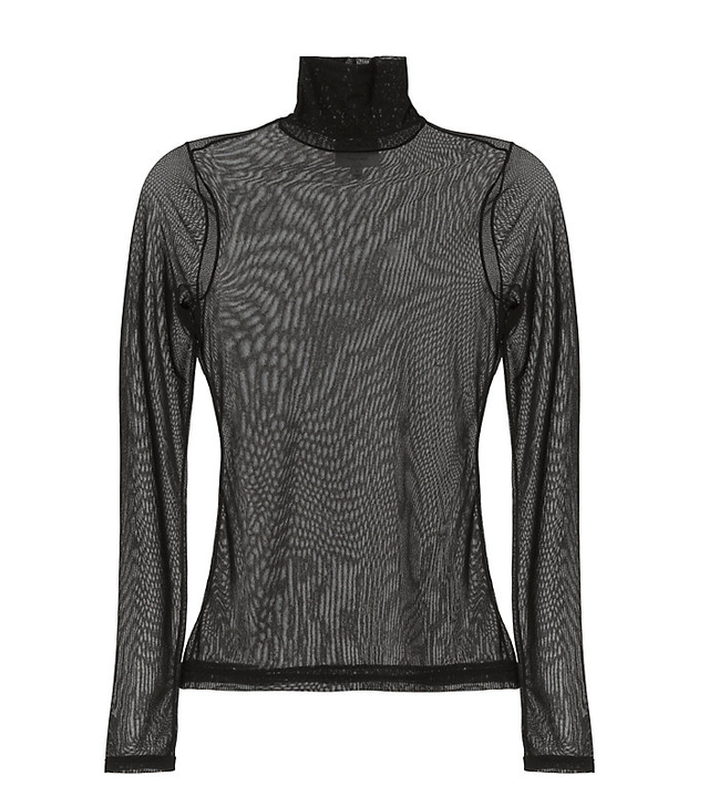 Cinq à Sept Mesh Turtleneck