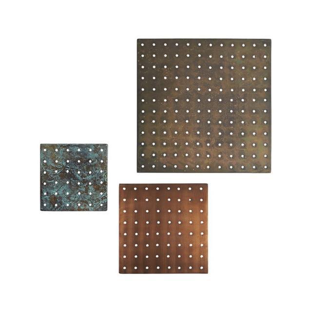 CB2 3-piece metal grate set