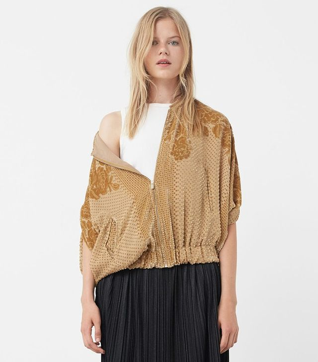 Mango Textured Silk Jacket