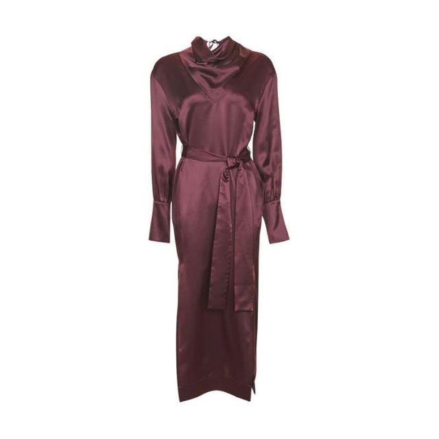 Topshop Insert Drape Satin Dress by Boutique