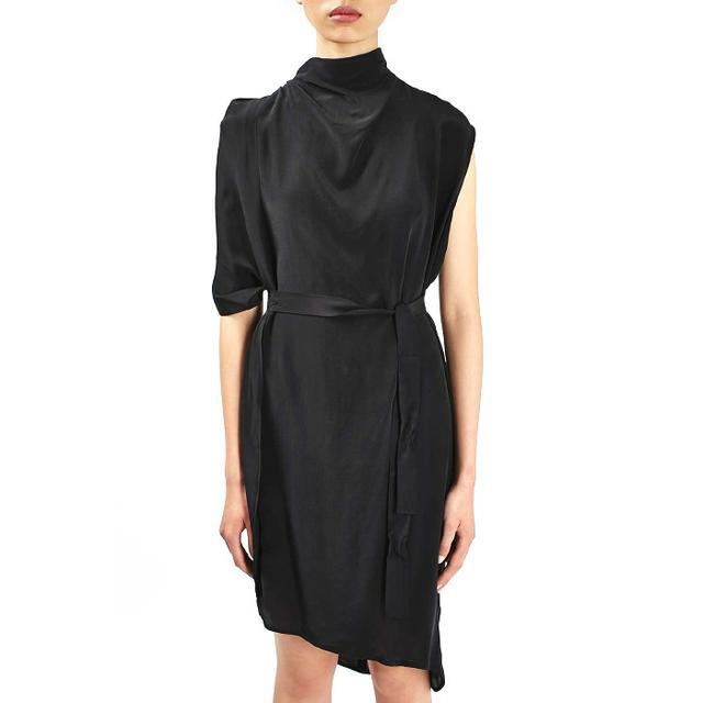 Topshop '80s Drape Funnel Dress by Boutique