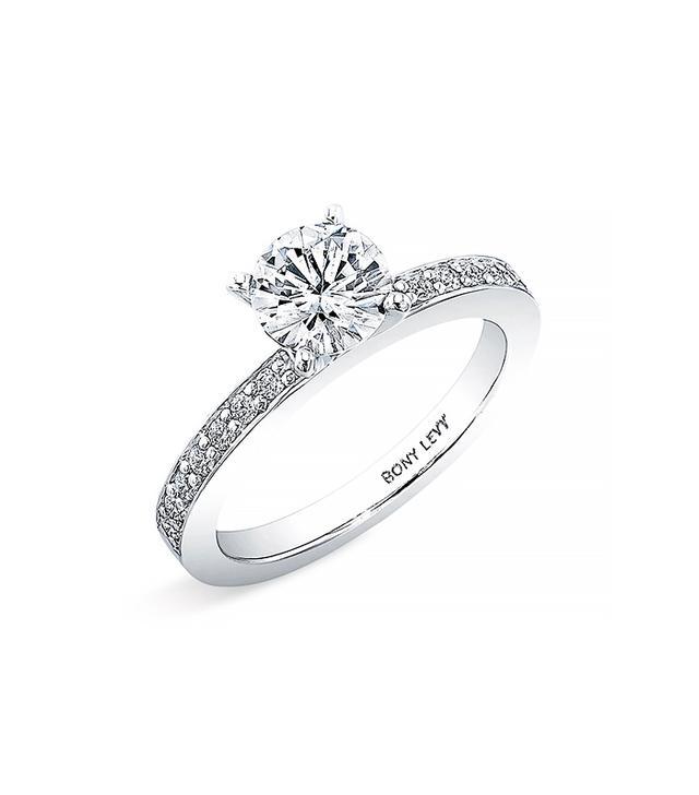 Bony Levy Bridal Channel Set Diamond Semi Mount Ring