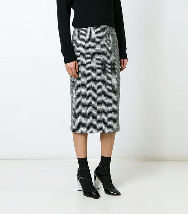Red Valentino Mid Pencil Skirt