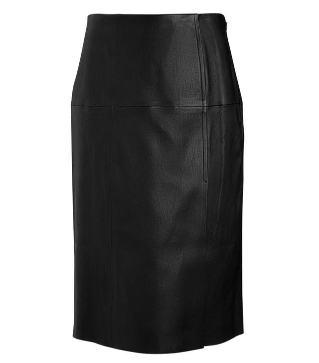 Joseph Stretch Leather Evie Skirt