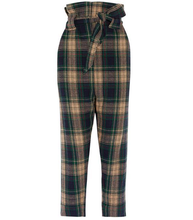 Vivienne Westwood New Kung Fu Tartan Wool-Blend Tapered Pants