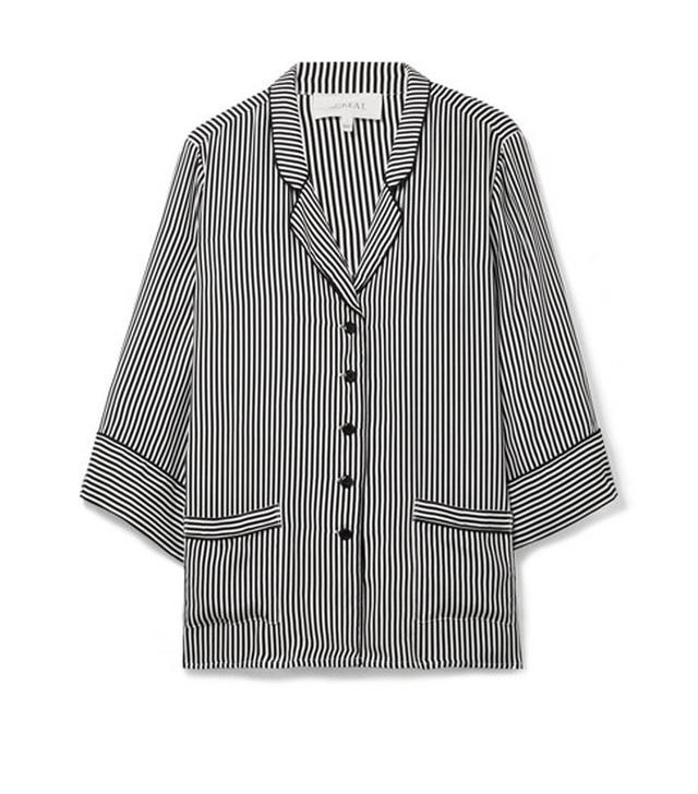 The Great The Sleeper Striped Silk Shirt