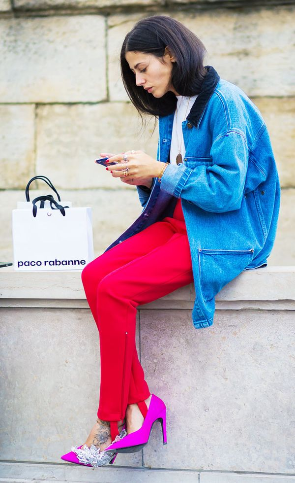 Color-blocking is one of favorite fashion tricks. Why not let your pants get in on the fun?