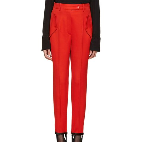 Red Stirrup Trousers