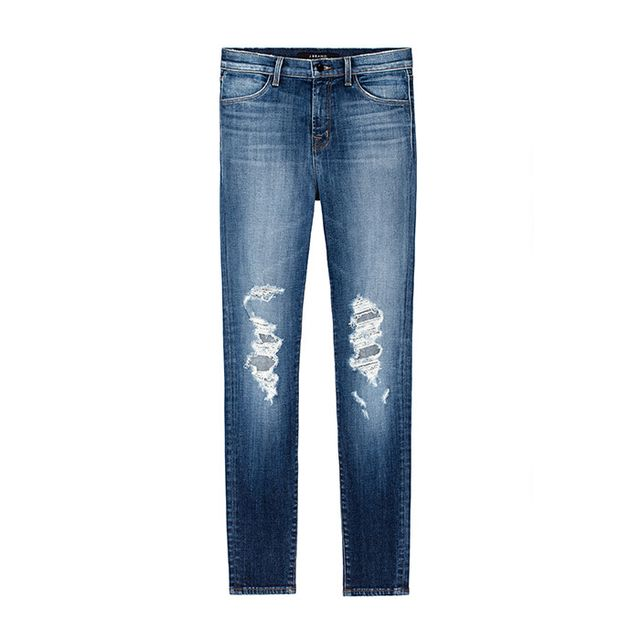 Pictured: J Brand Maria High-Rise Skinnyin Decoy Destruct ($228) Simple, clean, and chic. These are so easy to wear.