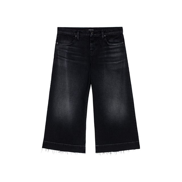 Pictured: J Brand Liza Mid-Rise Culottein Rapt ($228) We love the wash and frayed hems on this sleek pair.