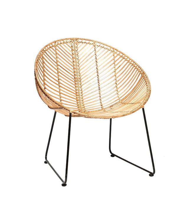 Molly and Aves Stuhl Rattan round