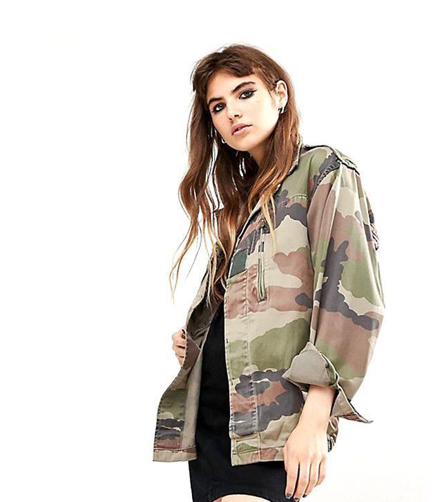 Reclaimed Vintage Military Jacket In Camo Print