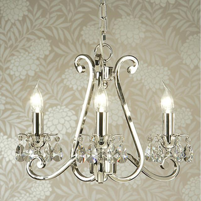 Temple & Webster Luxuria 3 light chandelier