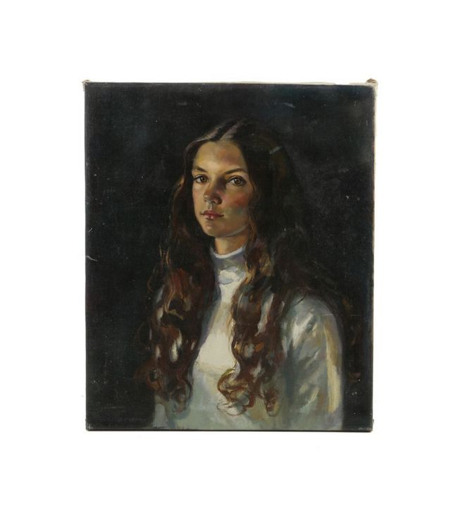 Mary Sarg Murphy Oil on Canvas Portrait of Girl