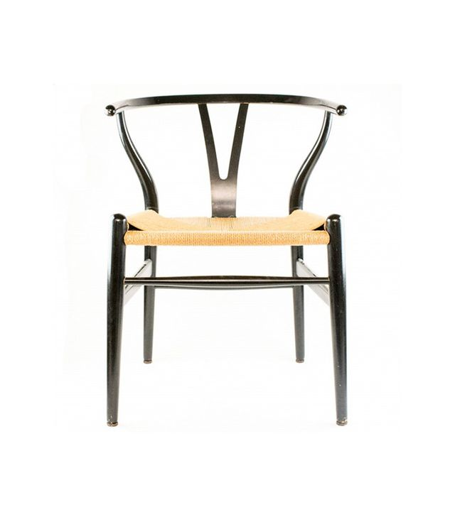 Hans Wegner Wishbone Chair With Papercord Seat and Ebony Finish