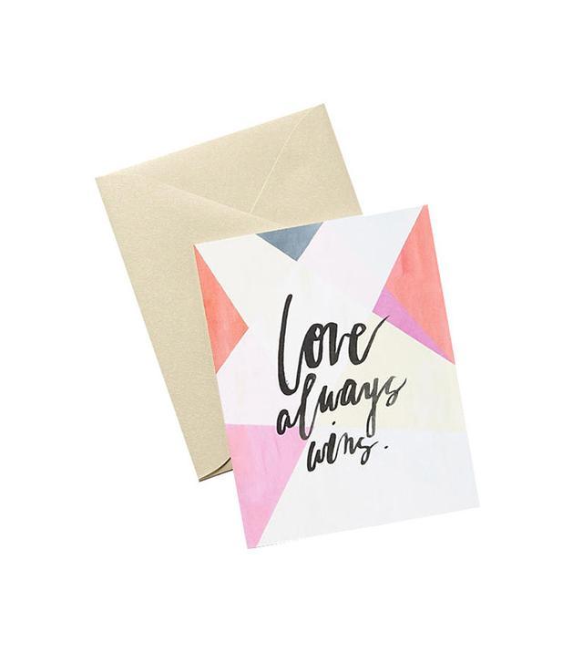 Anthropologie Love Always Wins Card