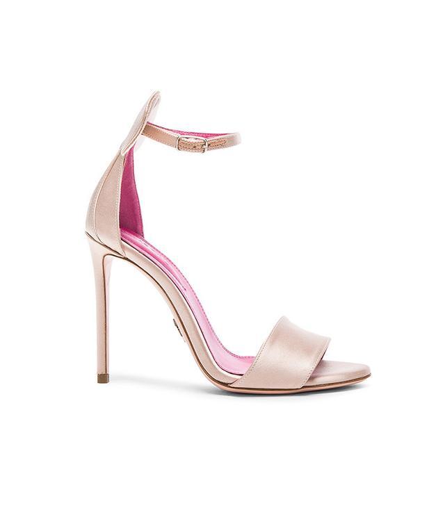 Oscar Tiye Mini Satin Sandals in Skin