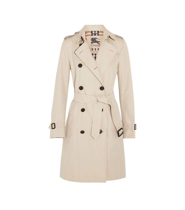 Burberry The Kensington Long Cotton--Garbardine Trench Coat