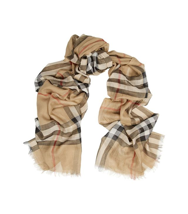 Burberry Check Wool and Silk-Blend Scarf