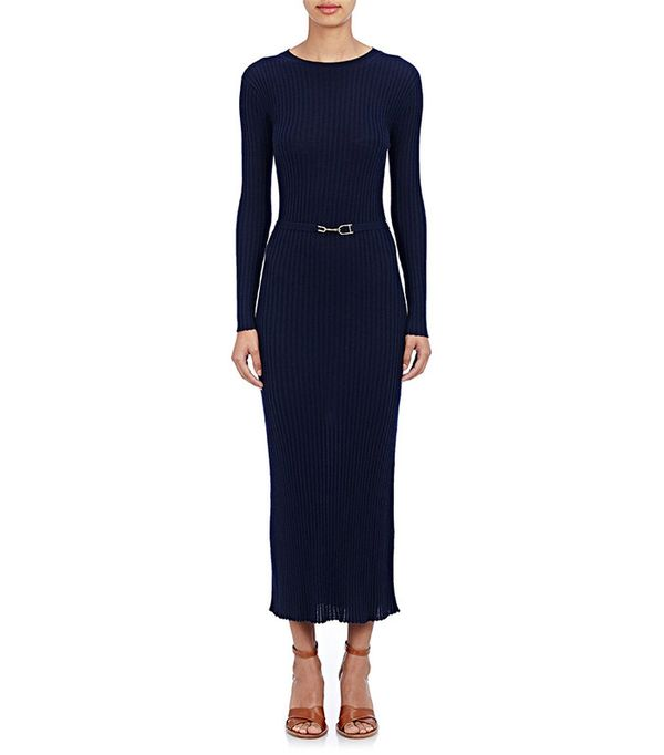 Gabriela Hearst Long-Sleeve Ribbed Dress