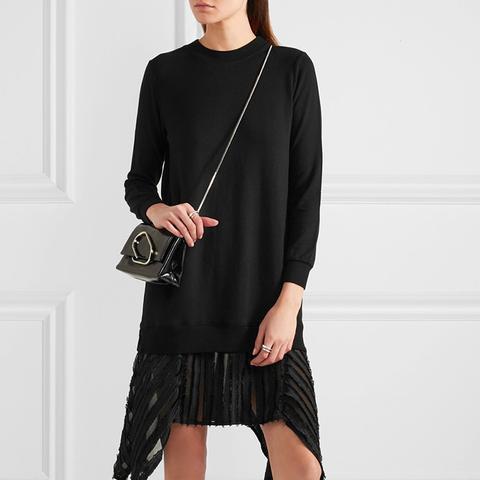 Fil Coupé-Trimmed Slub Stretch Jersey Dress