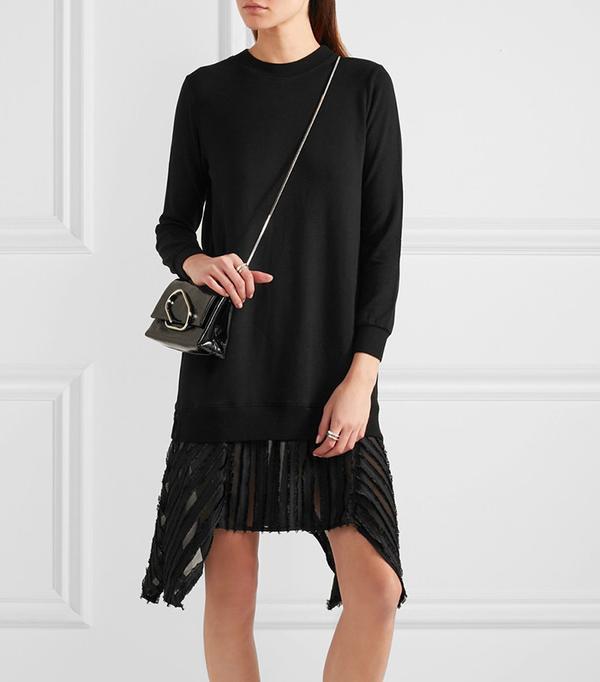 Clu Fil Coupé-Trimmed Slub Stretch Jersey Dress
