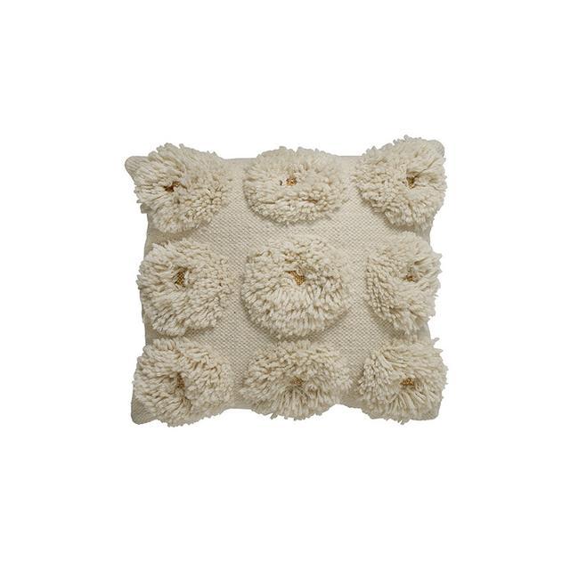 Langdon Ltd Daisy Shag Gold Cushion