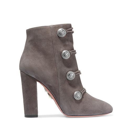 Rasputine Embellished Suede Ankle Boots