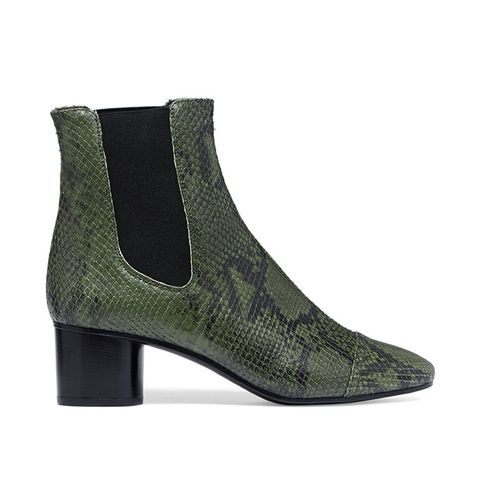 Danae Python-Effect Leather Ankle Boots