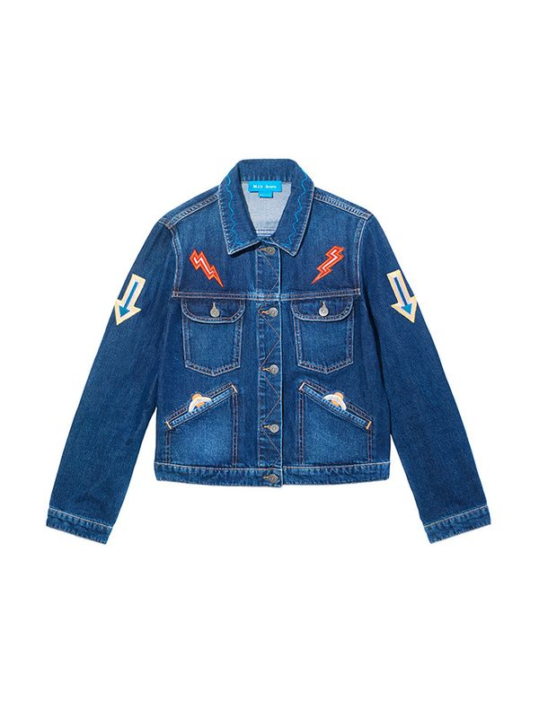 Patches immediately add a fresh edge to a denim jacket.