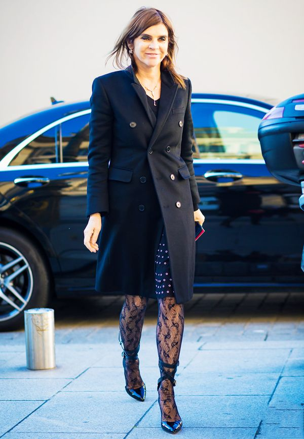 Rules for wearing tights: Embrace Patterns, and Be More Like Carine